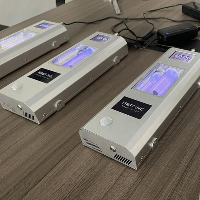 QuantaGuard Filtered 20W Far-UVC Light 222nm 24V DC FAR UVC Lighting 222 nm Excimer 20-Watt Lamp w/Remote Control and Motion Sensor