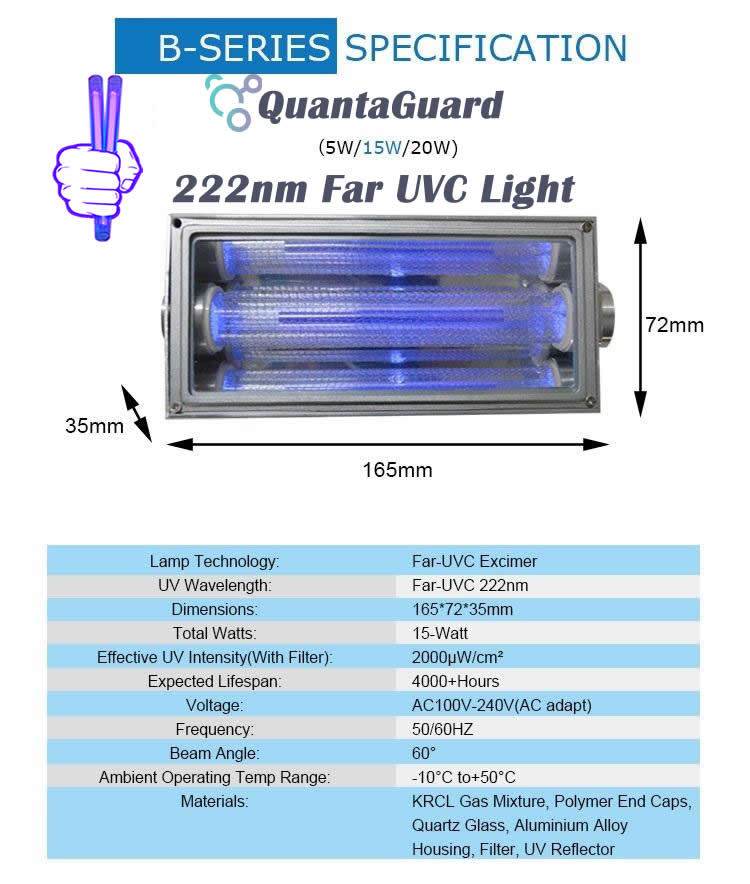 new-AP-UVGI-222-nm-far-uv-light-Manufacturer-Specification-15w-excimer-far-uvc-lamp-15-watt-24v-DC-power-supply-band-pass-filter-and-housing