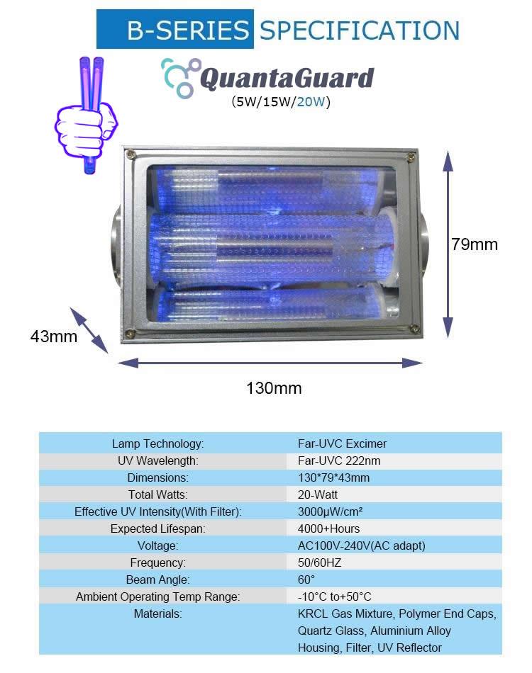 new-AP-UVGI-222-nm-far-uv-light-Manufacturer-Specification-20w-excimer-far-uvc-lamp-20-watt-24v-DC-power-supply-band-pass-filter-and-housing