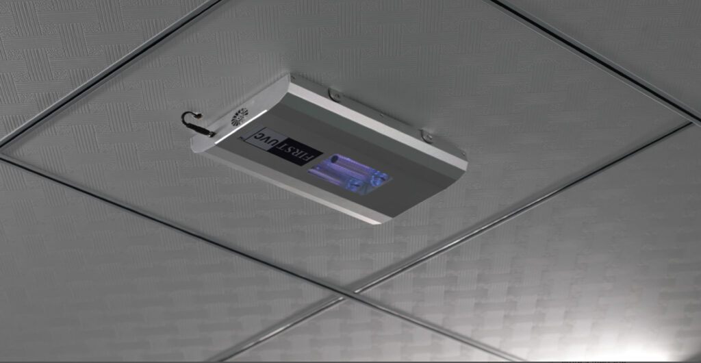 quantaguard-first-uvc-far-uvc-ceiling-light-installed-in-office-FAR-UV-Lighting-quantadose