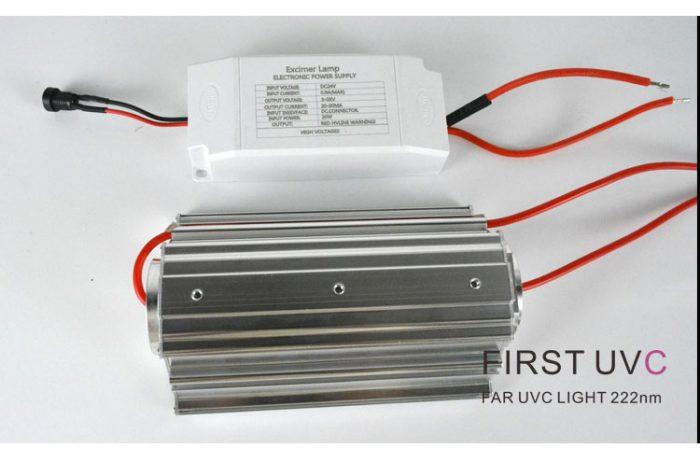 QuantaModule 20-Watt Far UVC Light Excimer Lamp Module Kit 24V DC 20w Far-UVC Light and Housing with 222nm Band Pass Filter