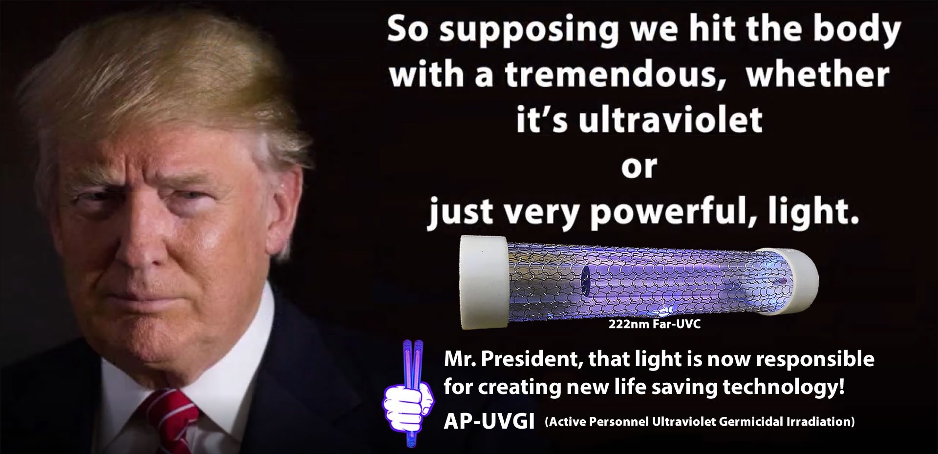 trumps-very-powerful-light-is-a-real-human-safe-germicidal-irradiation-AP-UVGI-using-Far-UVC-207nm-222nm-light